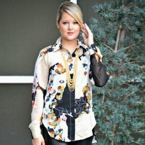 3.1 Phillip Lim for Target Floral Blouse Small S